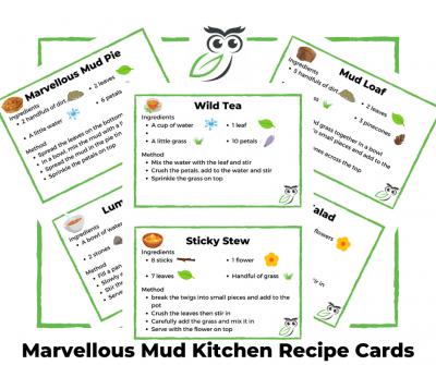 Marvellous Mud Kitchen Recipe Cards
